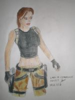 Lara in Camouflage outfit by Jedd-the-Jedi