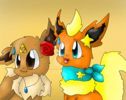 Collab with Eevee10001 FINISH by FlaraTheFlareon