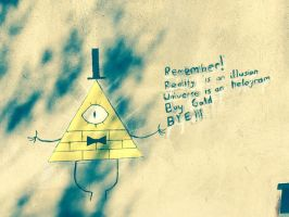 Bill Cipher On The Wall by TCMoonlight