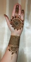 Henna Mandala Palm and Forearm Design by flowerwills