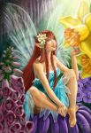 Fairy and Flowers by Shantalla