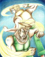 Guile and Charlie by KN-KL