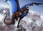 -AT- Dancing above the clouds by Dreikaz