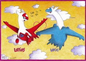 Latios and Latias by Km92