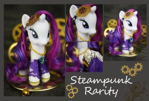 Steampunk Rarity 02 by bluepaws21