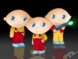 Stewie And His Clones by Freaky4live