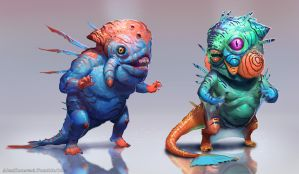 Fishmen of the Deep by AlexKonstad