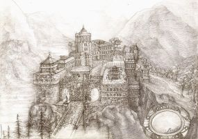 Castle in the Pass by PrinceBooth