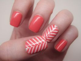 Coral Herringbone by complimentarymints