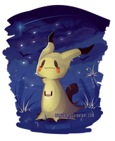 Mimikyu Night by Chikunia