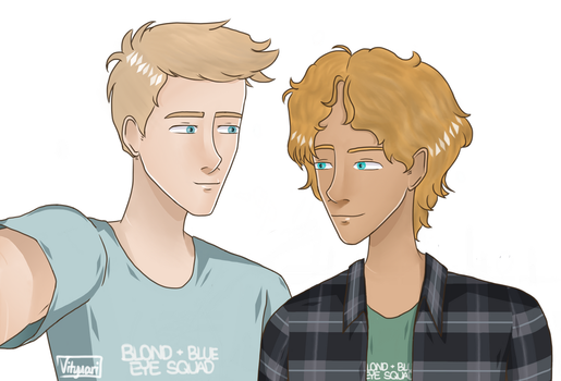 Hot Blonds w/ Blue Eyes Squad by SilverPawGaming