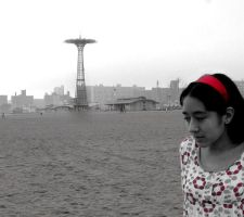 Coney Island Beach by chibichan314