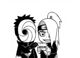 Deidara and Tobi game by AmErIk