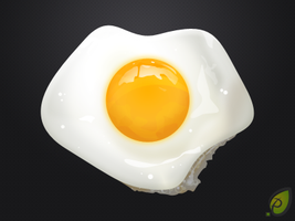 Fried Egg Illustration free psd by pixtea