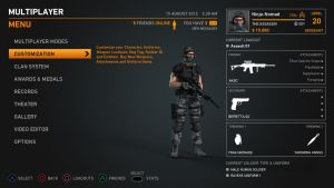 Soldier Game Interface Test 2 by Poser96