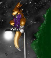 On Lightpost by Metal-Renamon by renamon-fan-club