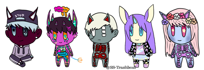 Skulleid Chibs // Batch 2 by SS-Trashboat