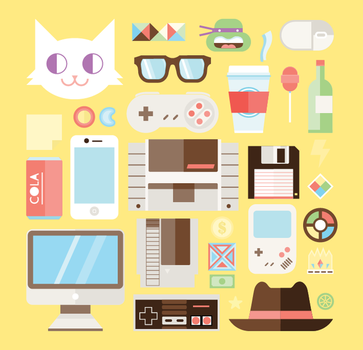 iconos hipsters by Helbetico