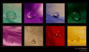 Colorful Droplets by ninazdesign