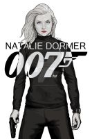 Natalie Dormer is Bond - Black and White by RabidDog008