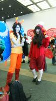 Vriska and Aradia by Cherinae