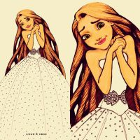 Disney Wedding Dresses: Rapunzel by lulu-ibeh