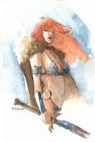 Red Sonja Water Colours II by MahmudAsrar