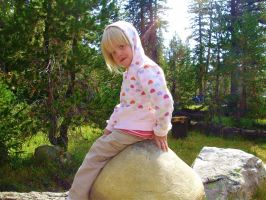Sitting on a Giant Mushroom by bobtheenchantedone