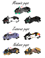 Pups for me and NightmareAdoptables by LizzysAdopts