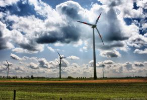 Wind Turbines by pingallery