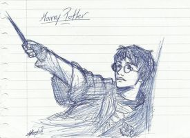 Harry Sketch by LunaHermione