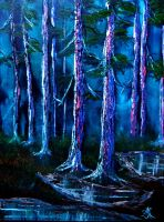 Secluded forest by nailpolish7