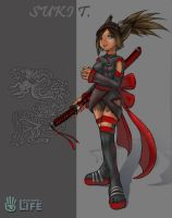 Second Life Ninja Suki by freelancemanga