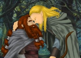 Gimli and Legolas by Saika-Elkhart