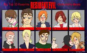 Top 10 Favorite Resident Evil Buttheads by aura102