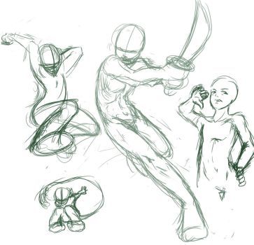 +study+ poses and crap by Checkered-Fedora