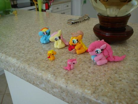 My Little Pony Clay Charms by hoppy9046