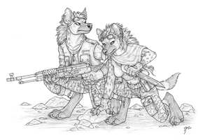 Dust Runners - Lineart by Qzurr