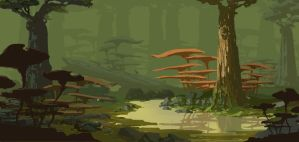 swamp by xiaoxinart