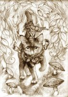 the faerie cat and piper by rose-colligan