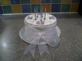 Mum and Dad's Silver Wedding Anniversary Cake by RachelLou96