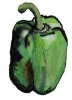 Water Colour Pepper 01 by shainarichelle