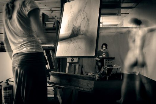 Life Drawing Session by Revelio