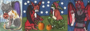Halloween ATCs Trade by sorjei