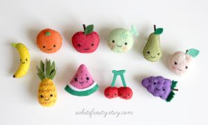 Fruit Felt Brooches by whitefrosty