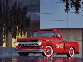 Ford F100 Cola Pickup Truck by sergoc58