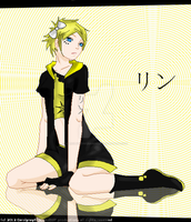 Simple line epic detail: Rin Kagamine by Carolynzy6125andBSP