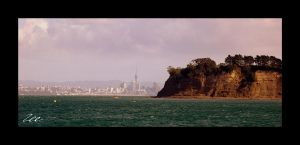 Auckland From The Sea by CRIMSONlipstain