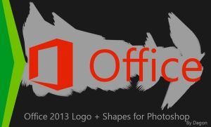 Office 2013 Logo + Shapes for Photoshop by CryDagon