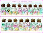 Kawaii Sea Animals Jars by Bojo-Bijoux